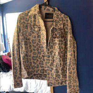 Blank NYC Cheetah/Leopard Denim Trucker Jacket